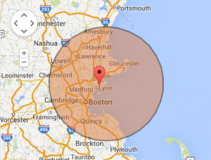 30mile radius